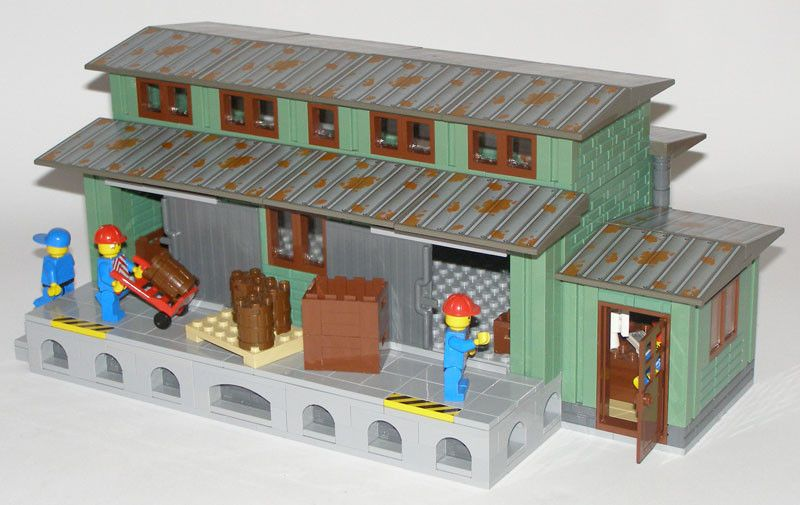 Old railroad warehouse. Reviewed by legofrik, not sure if he's the builder...