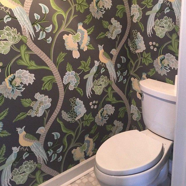 Thibaut Janta Bazaar Powder Room  Thibaut Love  Pinterest Fascinating Bathroom Bazaar Design Decoration