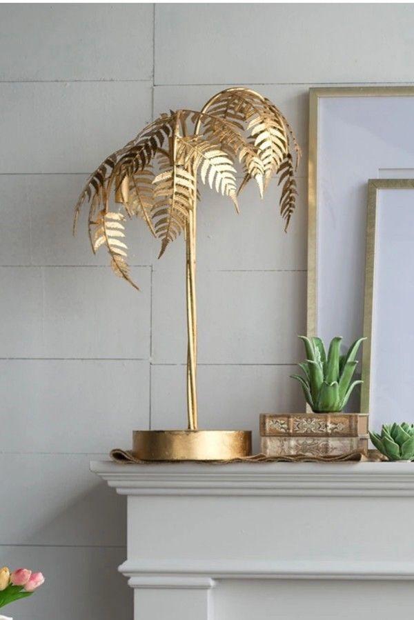 Gold Fern Table Lamp Golden Decor Decor Rustic Floor Lamps