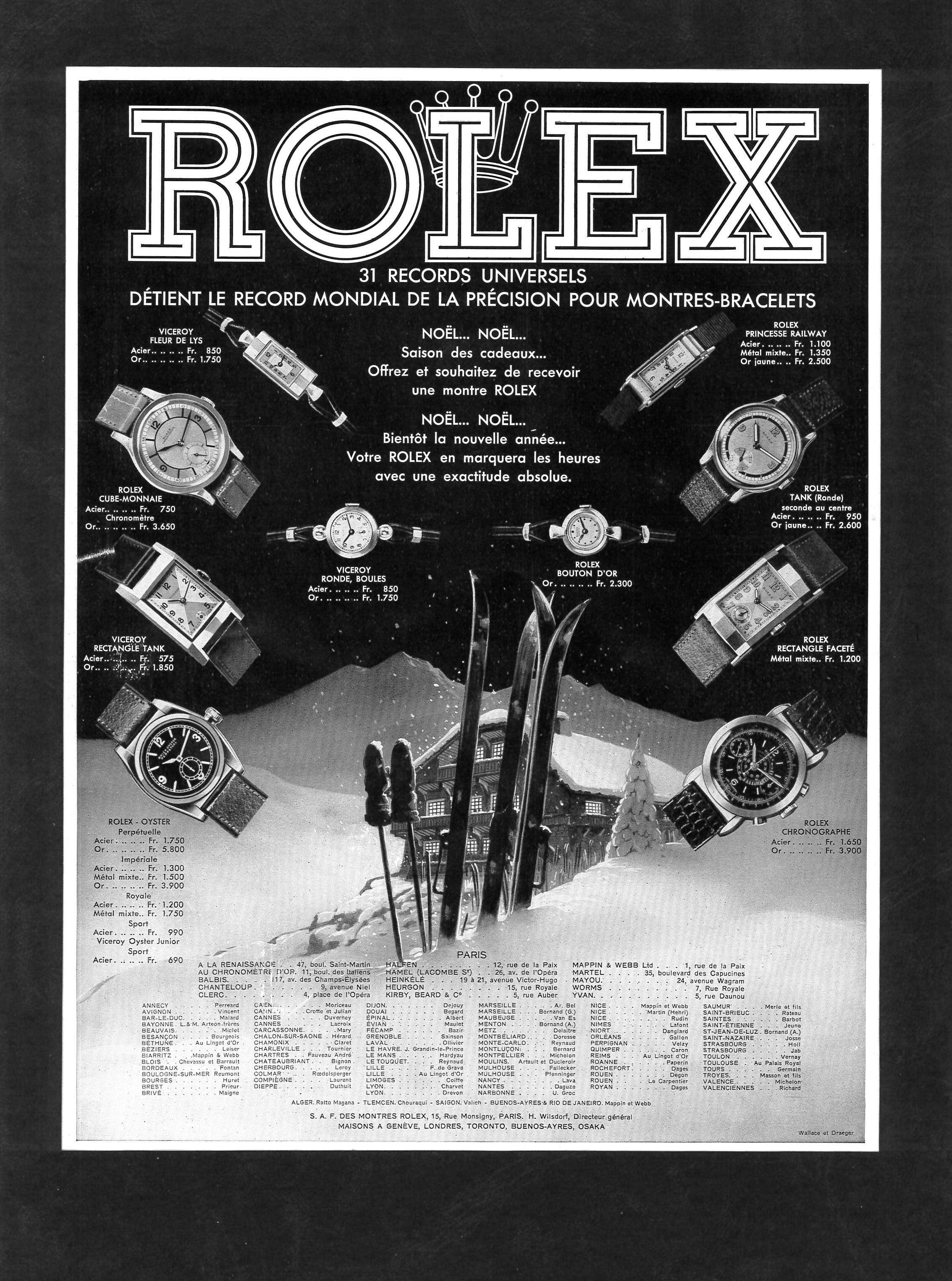 Originale historische Werbung der Marke #vintaherolex