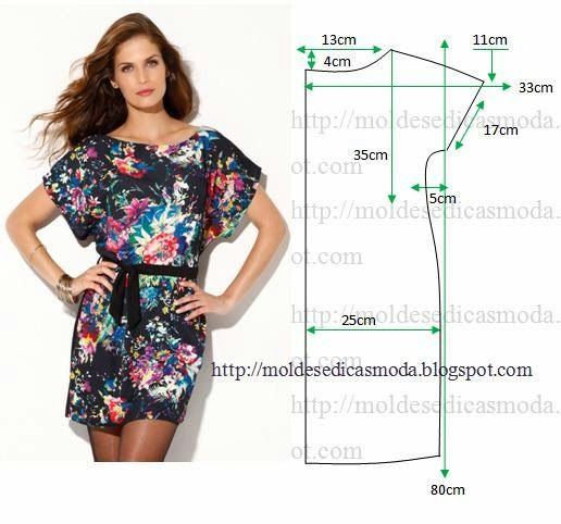 3f17ef19a Vestido casual florido com medidas e o passo a passo   Vestidos ...