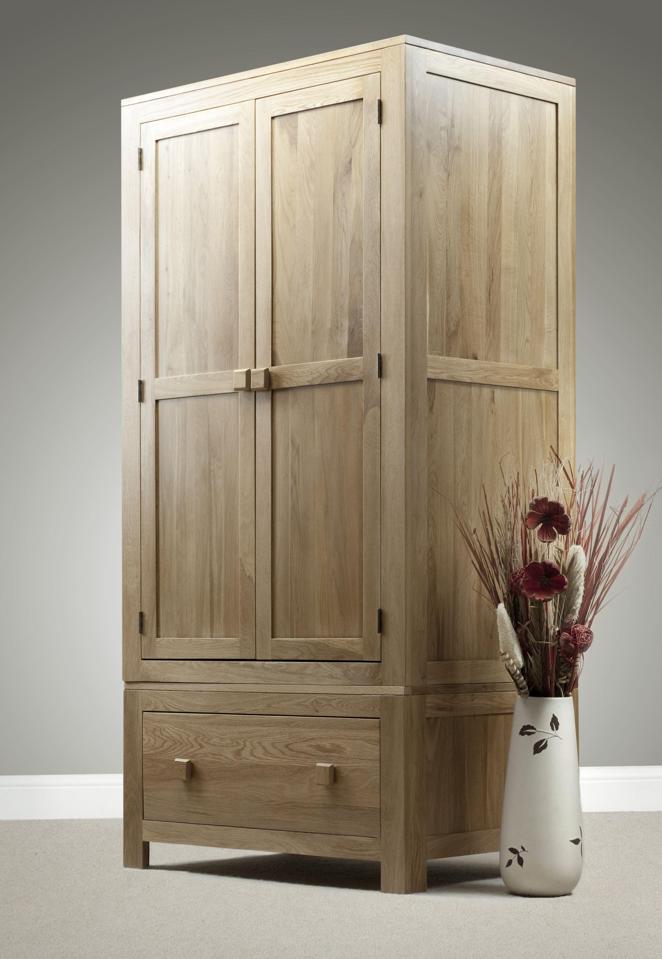 Oakdale Solid Oak Furniture Range Bedroom | Oak Double Wardrobe Oak ...
