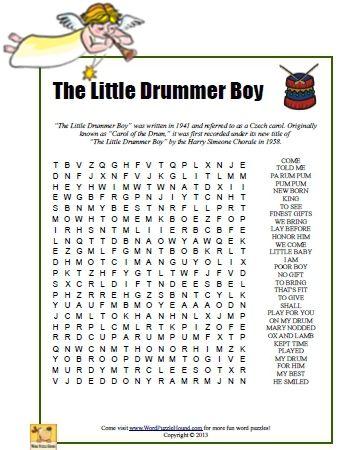 little drummer boy lyrics pdf