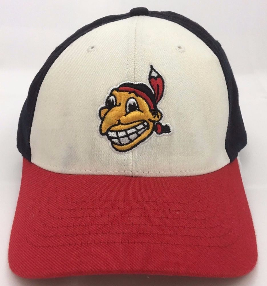 2f7e654e Cleveland Indians Cooperstown Hat Yellow Face Chief Wahoo Red White Blue  Flexfit #CooperstownCollection #ClevelandIndians