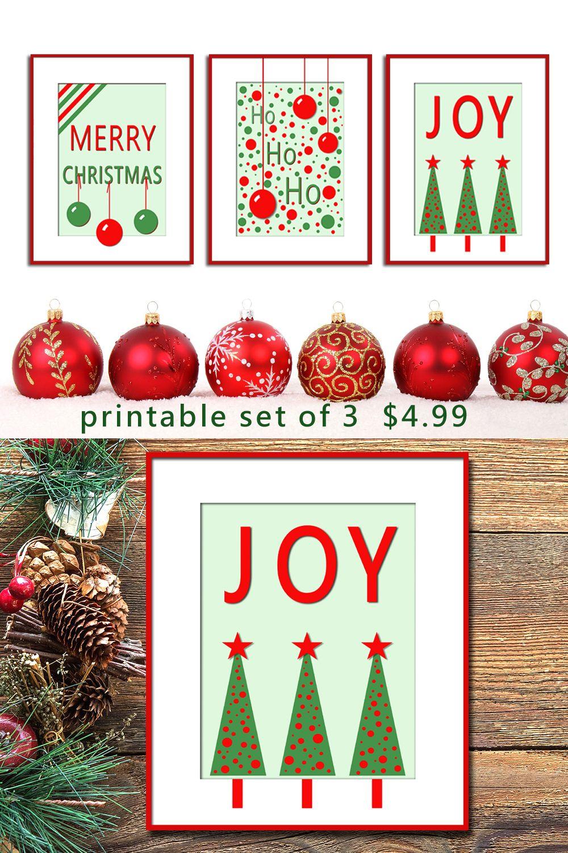 Set Of 3 Holiday Printables Christmas Art Print Download Etsy In 2020 Christmas Prints Christmas Art Christmas Printables