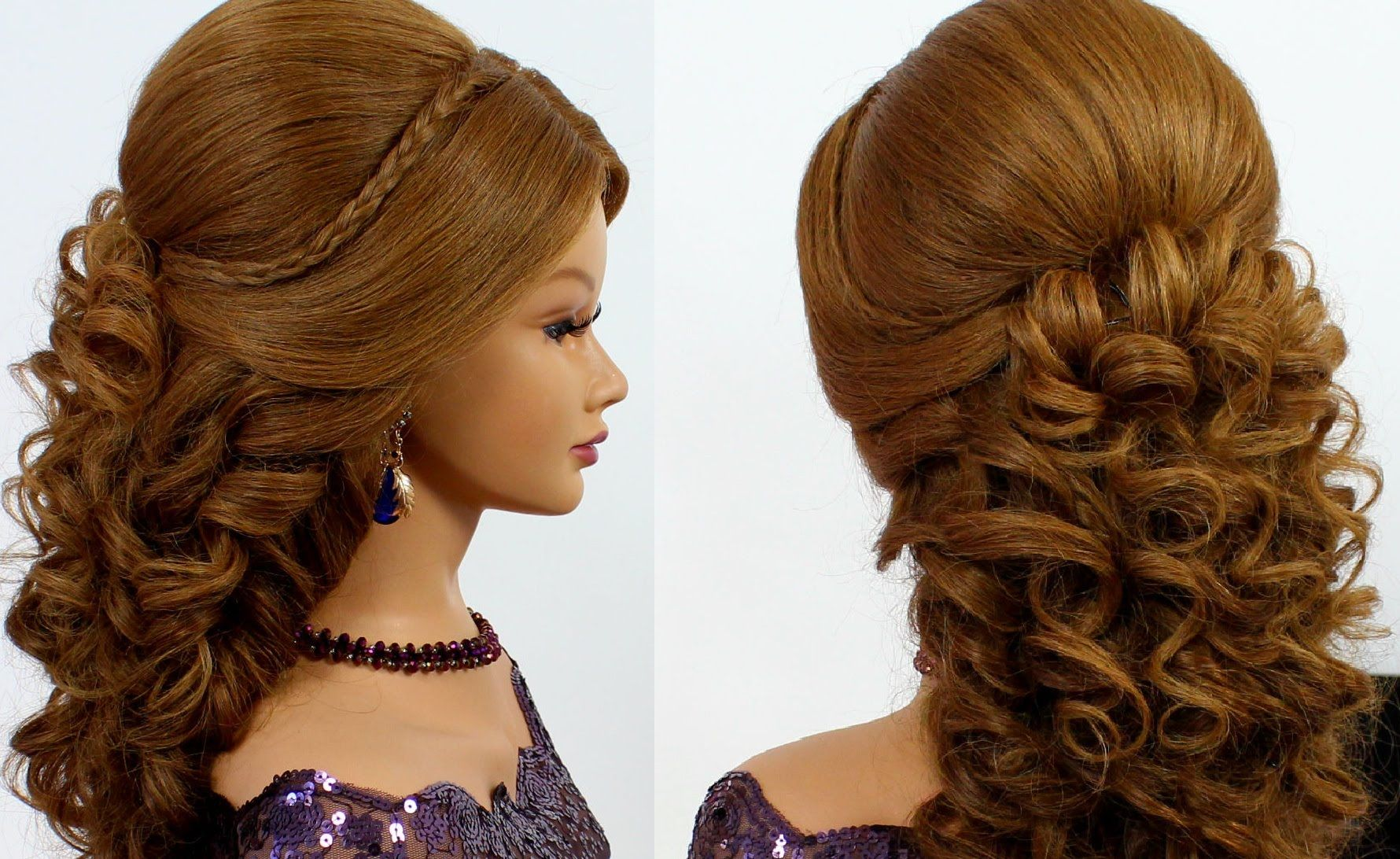 Romantic Wedding Prom Hairstyle For Long Hair Hair Prom