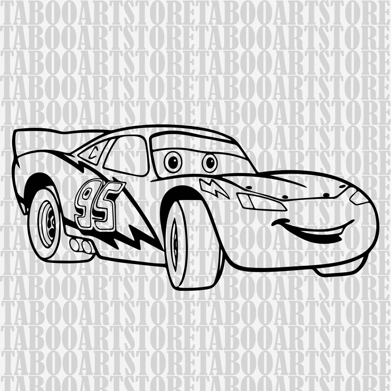 Lightningmcqueen Stencil,Lightningmcqueen svg , car svg