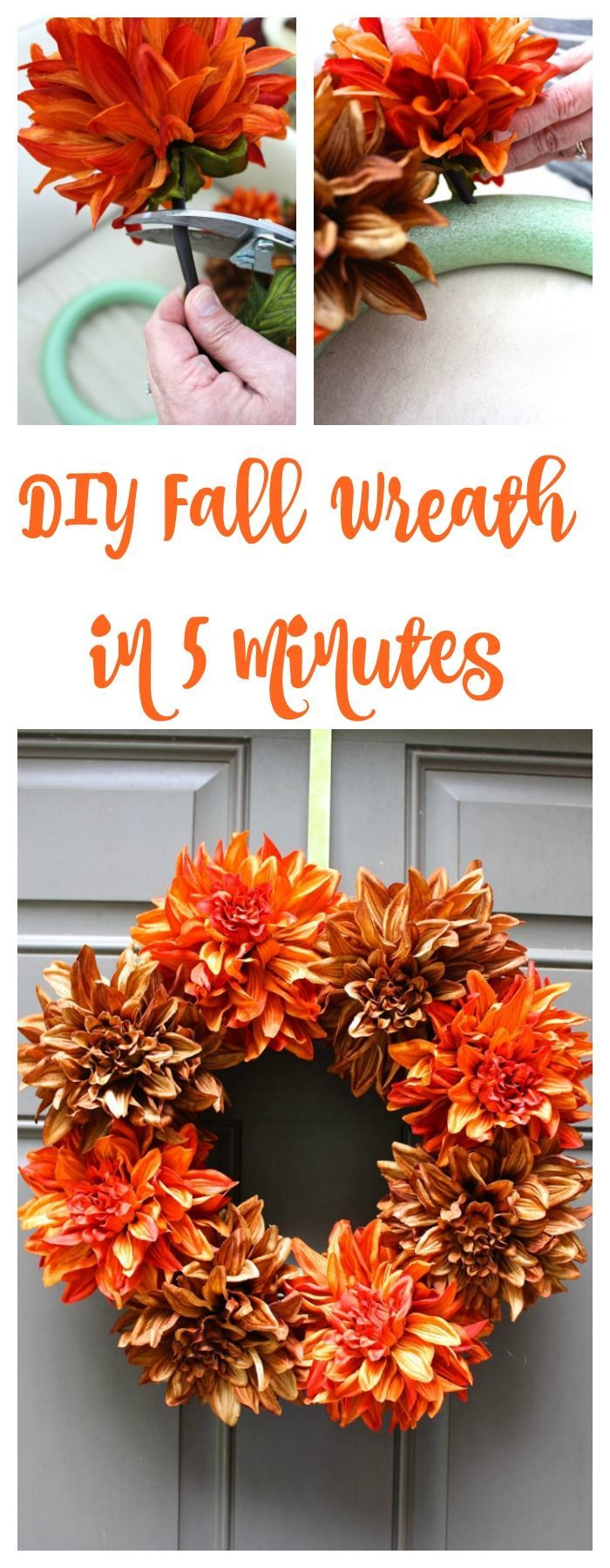 Easy Fall Wreath #diyfalldecor