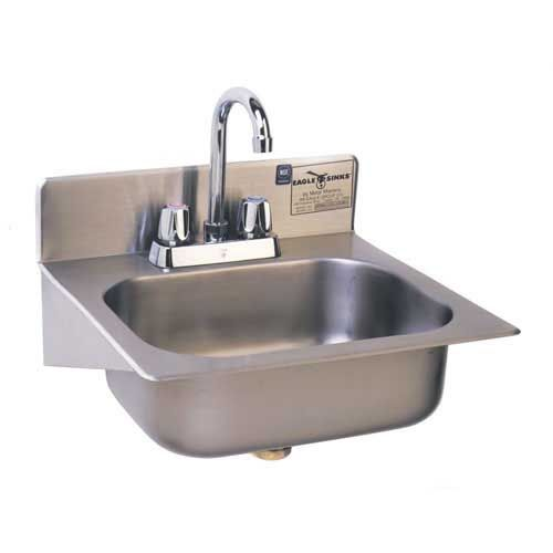 Eagle Hsae 10 Fa 17 Wall Mounted Hand Sink Sink Sink Faucets Garage Sink