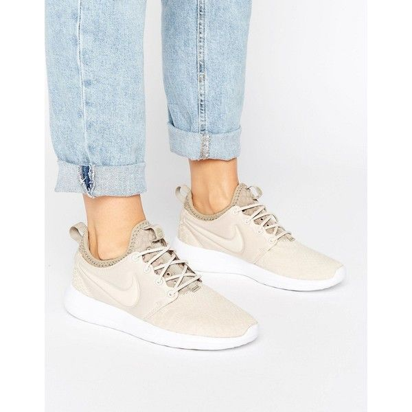 Nike Roshe Two Trainers In Beige (€105) ❤ liked on Polyvore featuring shoes 1c39dfc90