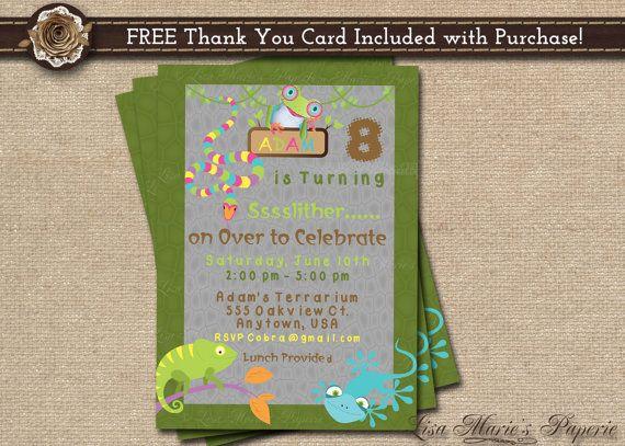 reptile birthday invitation birthday party invitation boy – Free Digital Birthday Invitations