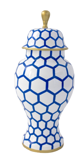 blue printed jar
