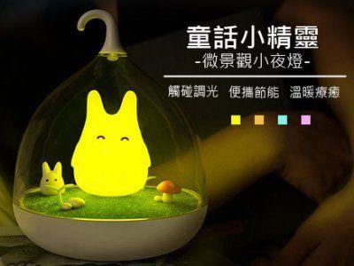 其他 交換禮物首選創意童話小精靈led微景觀夜燈龍貓燈籠燈小夜燈禮物