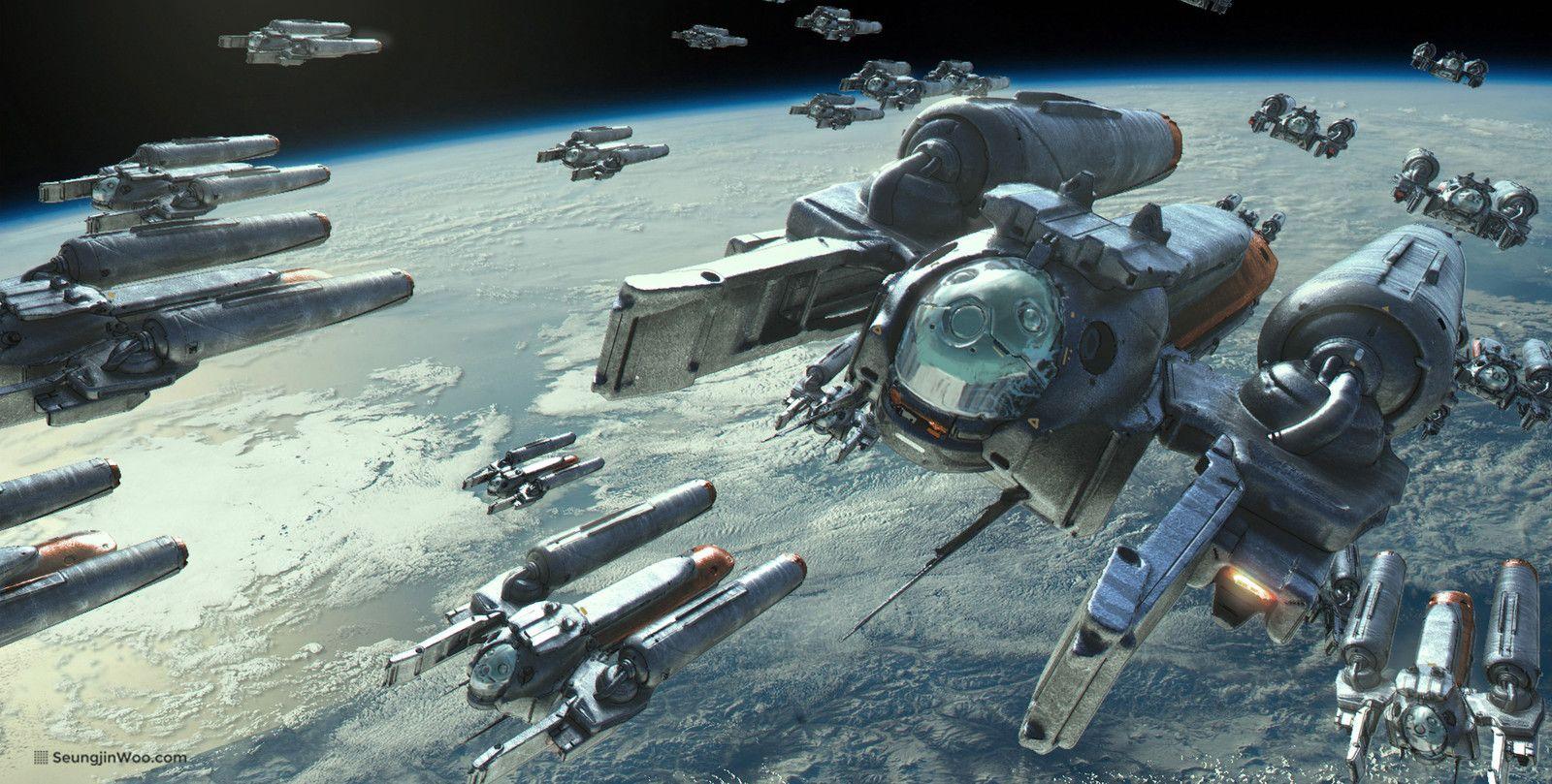 Daily Sketch Week 1 Aircraft Spaceship Seungjin Woo Concept Ships Sci Fi Ships Starship Concept