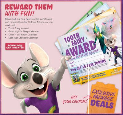 Check out our new Printable Rewards Certificates for 10 FREE Tokens!