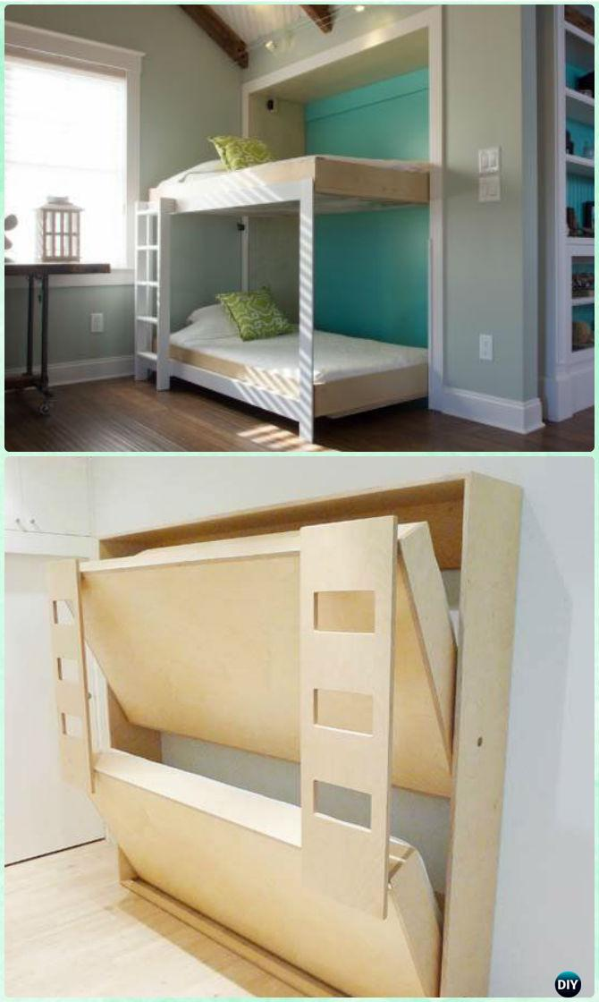 Diy Space Saving Bed Frame Design Free Plans Instructions In 2020