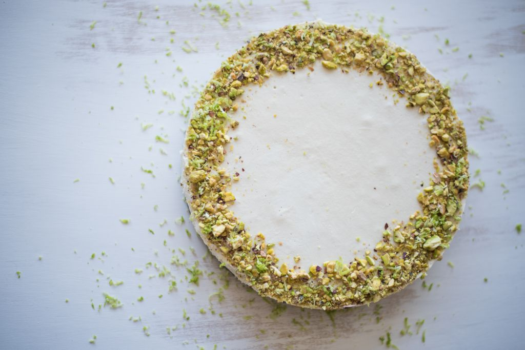 Lime & Pistachio Cheesecake