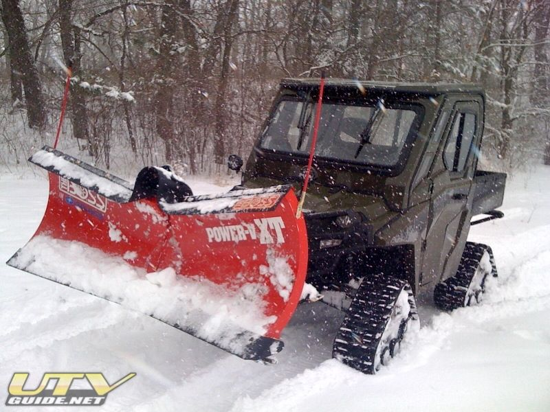 Polaris Ranger Hd With Boss Plow And Tracks Polaris Ranger Ranger Snow Blower