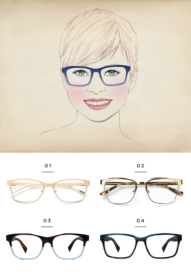 339badd9599 The best glasses for a round face shape