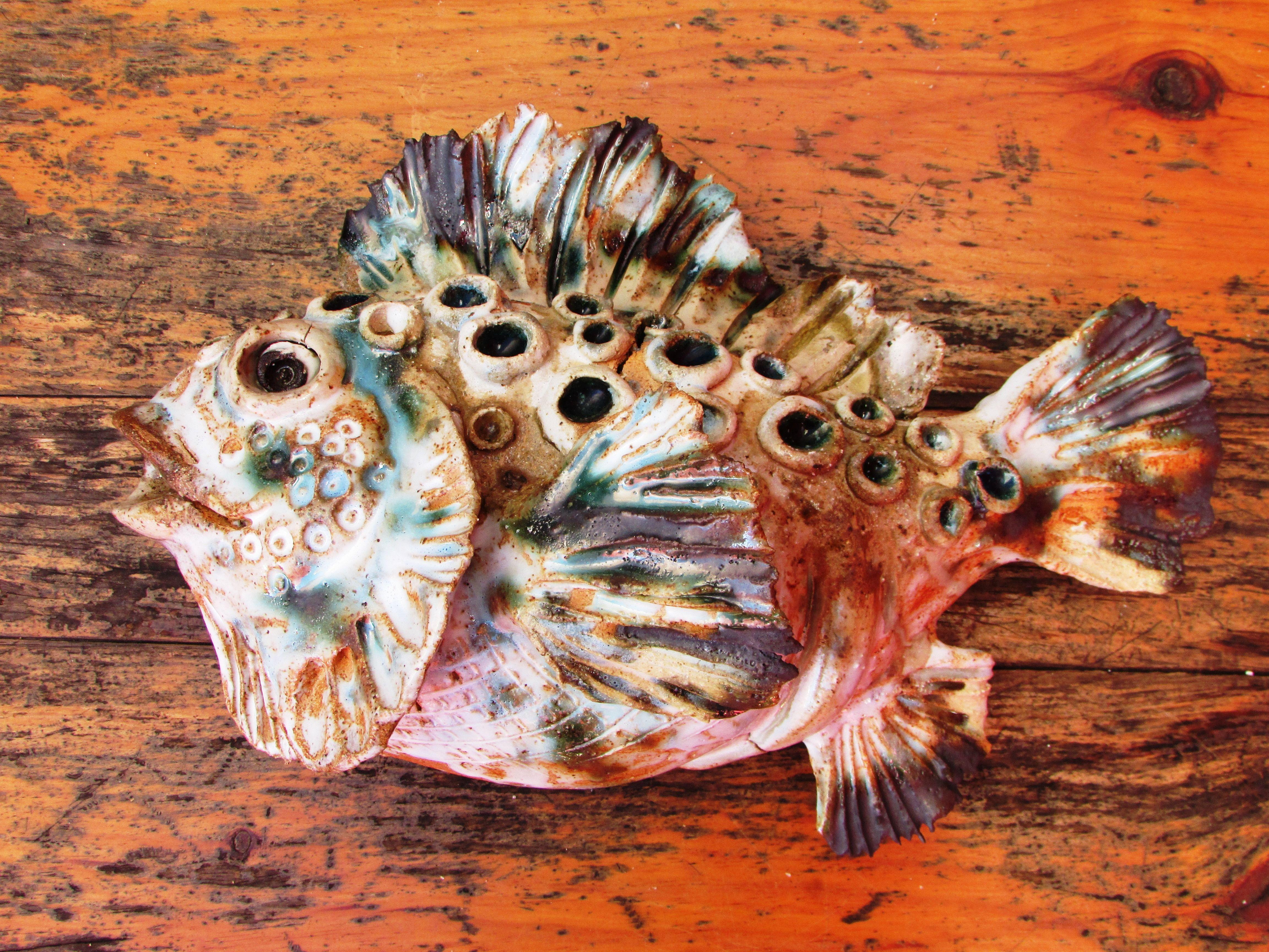stoneware wall fish by sylvain bongard.portugal
