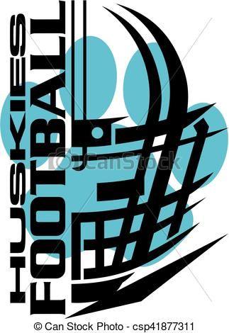 vector huskies football stock illustration royalty free rh pinterest com