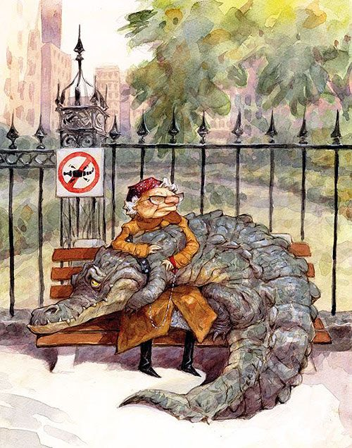 Crocodile Tears by Peter de Sève, my absolutely fav