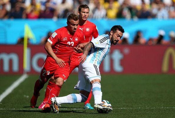 Xherdan Shaqiri Photos Photos Argentina V Switzerland Argentina Ezequiel Lavezzi Fifa World Cup