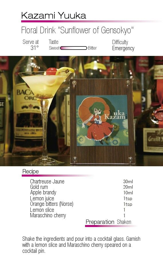 "Yuuka Kazami- Floral Drink ""Sunflower of Gensokyo"""