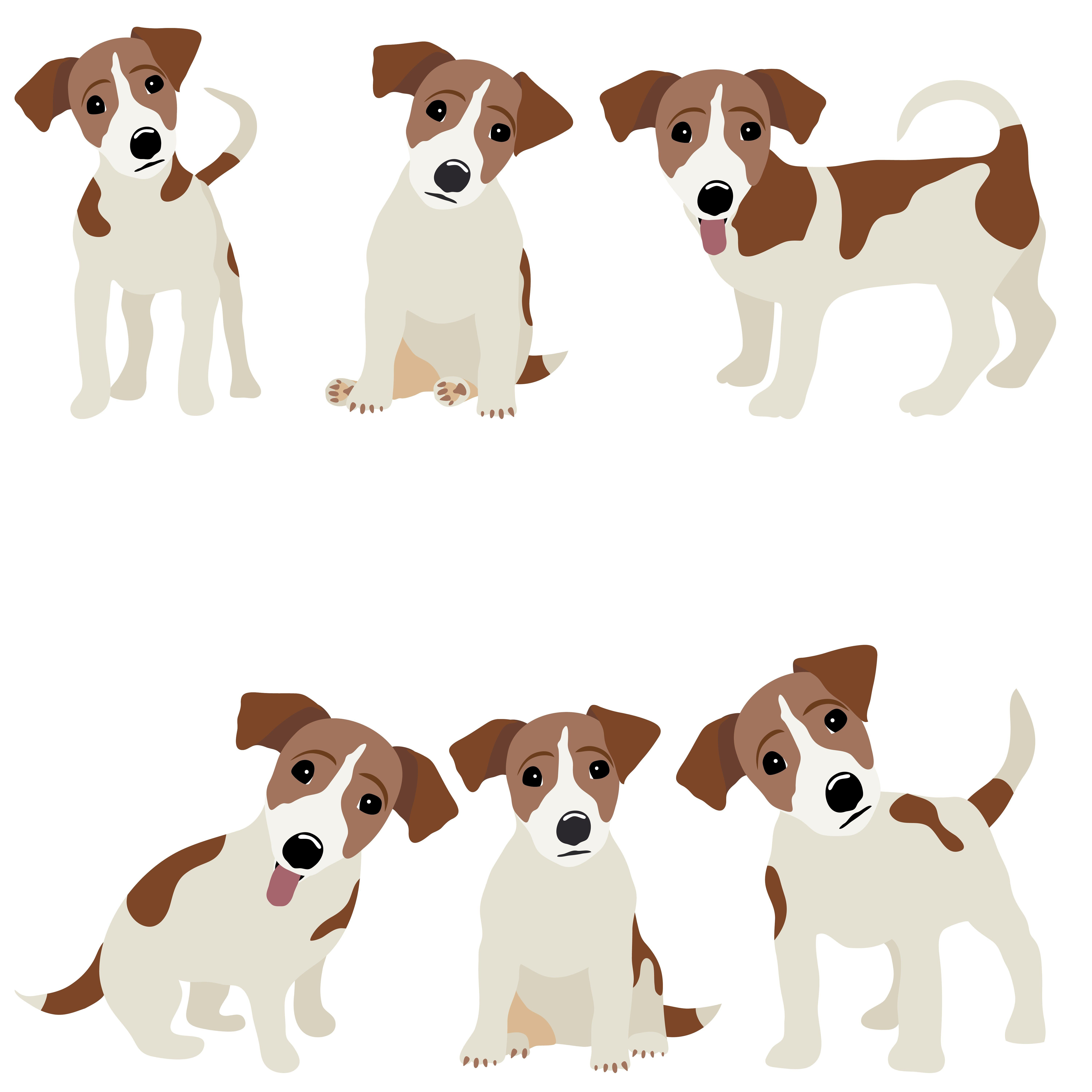 Jack Russell Terrier Cute Dachshund Eps Preview Dog Drawing