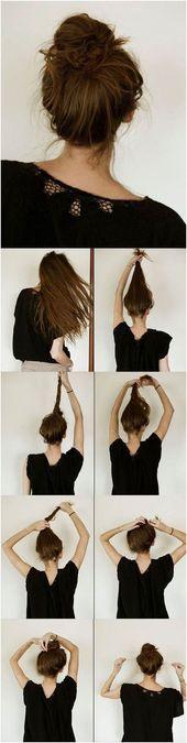 15 Einfache Frisur Tutorials für Alle Gelegenheiten ,  #alle #einfache #flechtfrisurendutt #F…