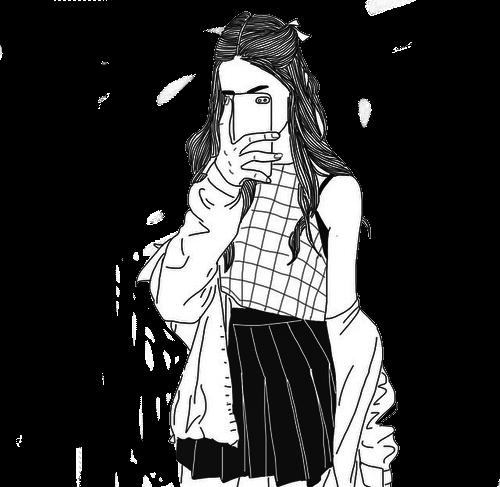 Pin Oleh Mappy Di Animes E Desenhos Putih Hitam Gadis Manga Gadis Animasi