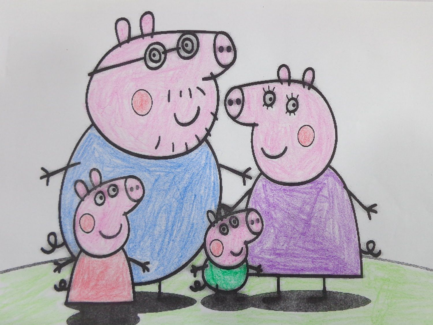Pe peppa pig online coloring pages - Coloring Peppa Pig Family Learn Colors Video Learning For Kids B T M U