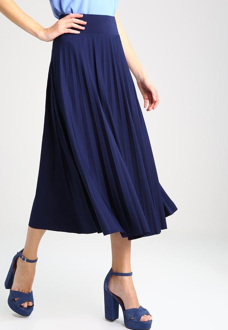 958cf75e3cefad Jupe plissée - peacoat | Mode femme | Jupe, Jupe plissée et Jupe trapèze