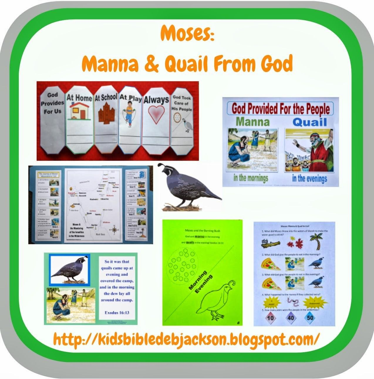 Bible Fun For Kids: Moses: Manna & Quail to Eat! | Moses | Pinterest ...