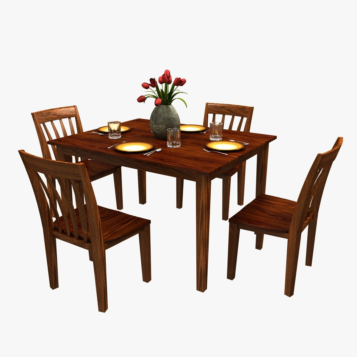3d Traditional Dinner Table Chairs Model Dinner Table Chairs Table And Chairs Dinner Table