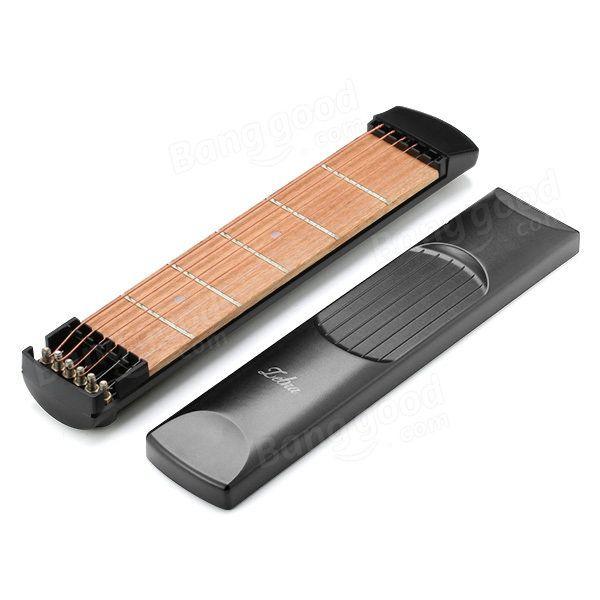 Zebra™ 6 Fret Portable Pocket Guitar Practice Tool Guitar Chord ...