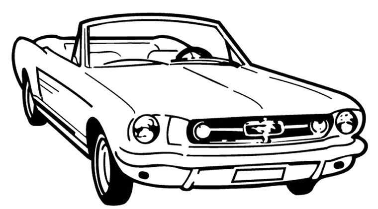 Mustang Lowrider Coloring Pages | Education | Pinterest | 아이디어
