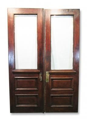 Beveled Glass Double Entry Doors