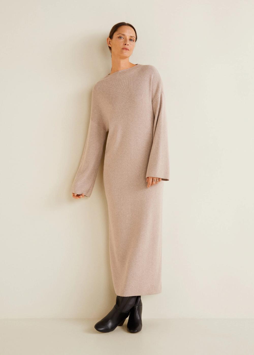 Soft-kleid mit rippstruktur - Damen  Minimalistische mode, Mango
