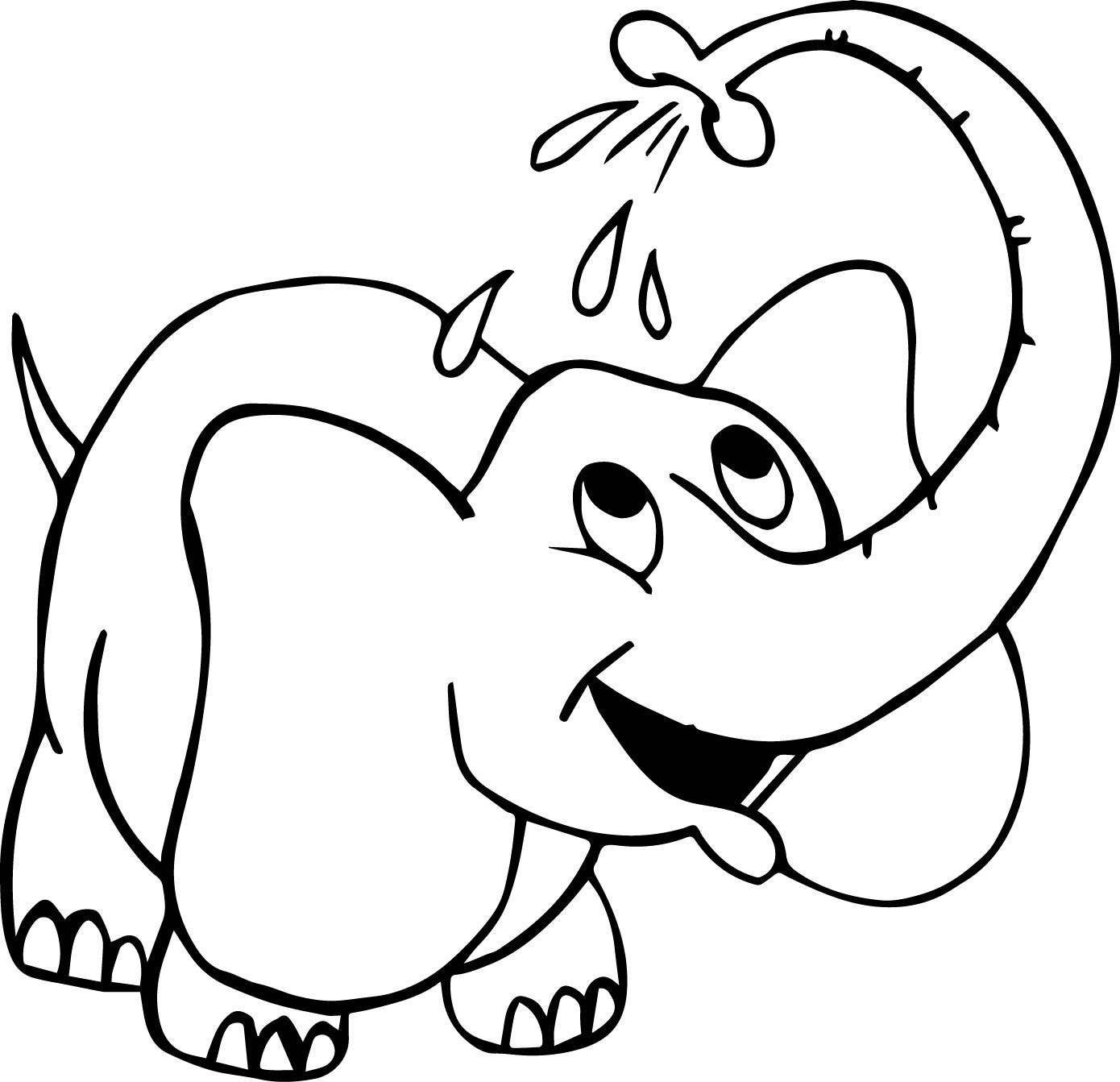 Washing Elephant Coloring Page Elephant Coloring Page Animal