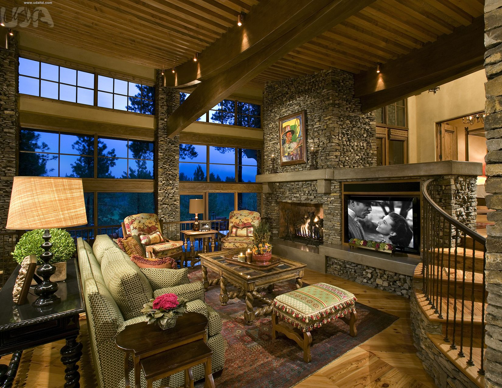 Rustic Living Room, Mountain Living Room, Cabin Ideas ...