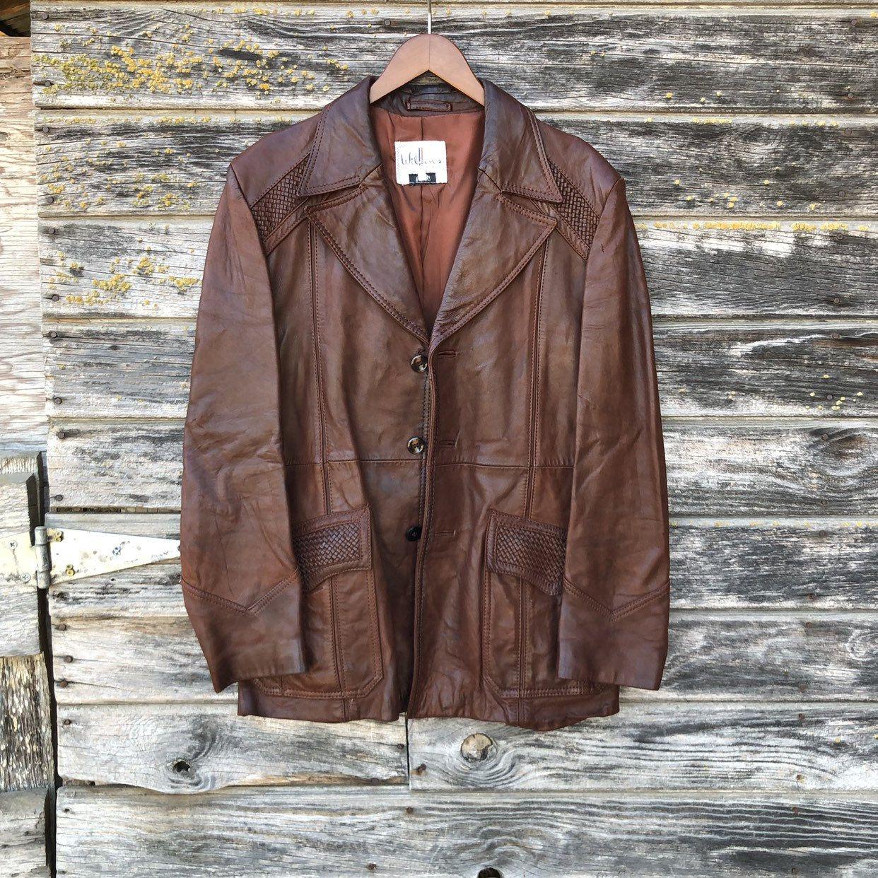 70s Brown Leather Jacket Men M Size 42 Vintage 1970s Retro Etsy Leather Jacket Men Brown Leather Jacket Men Leather Jacket [ 1242 x 1242 Pixel ]
