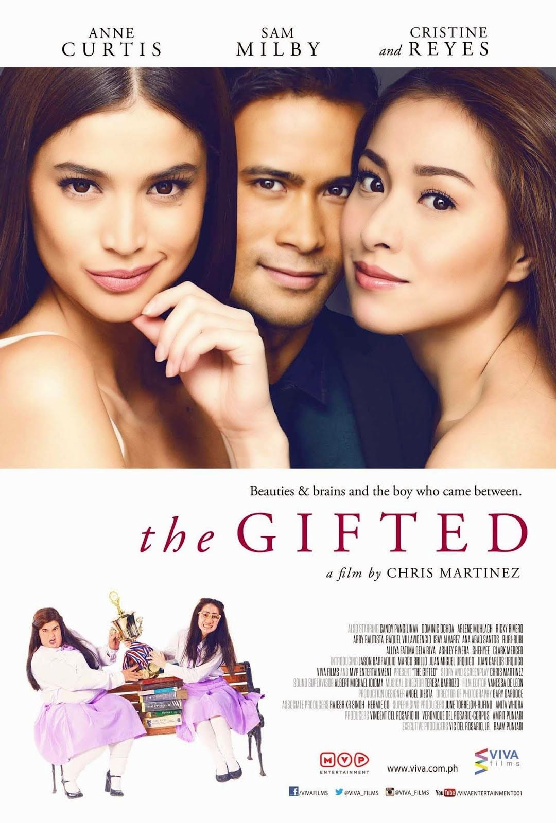 The Gifted Philippines 2014 Movie Starring Anne Curtis Sam Milby And Cristine Reyes 7 10 Free Movies Online Comedy Films Romance Comedy