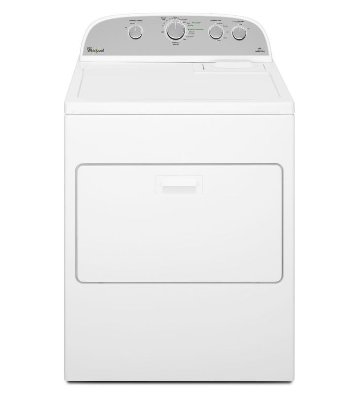 Whirlpool WED5000DW 7.0 Cu. Ft. Cabrio® Series HE Electric Dryer White Dryers Dryer Electric