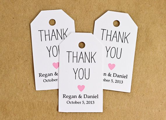 Thank You Quotes For Wedding Shower Gifts : Favor Tags, Wedding Favor Tag, Bridal Shower Favor, Thank You Gift Tag ...