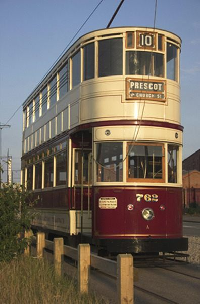 Liverpool Corporation Tram to Prescot - Side fold photo card