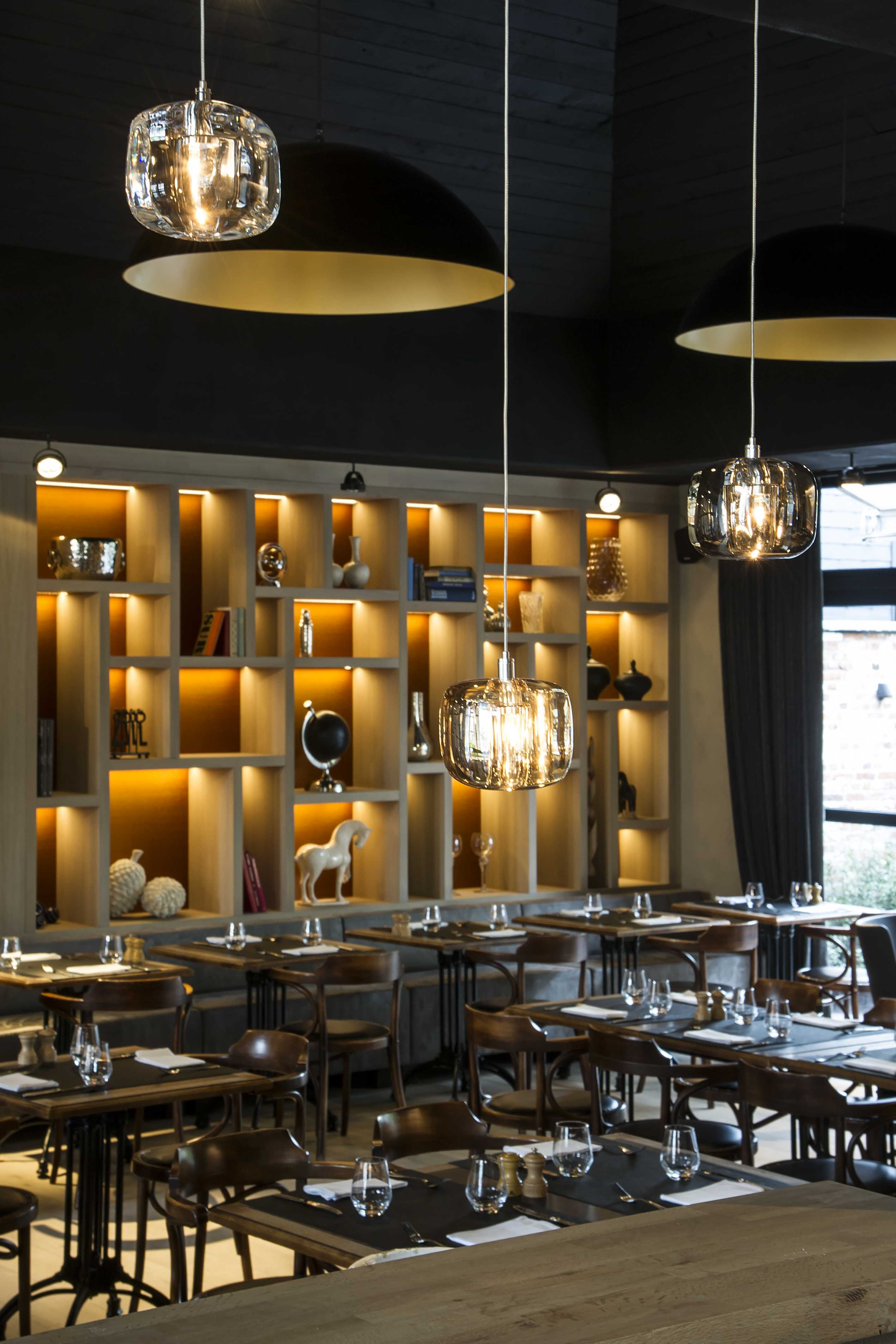 T Klooster De Pinte Wille H Interior Design #Restaurant #Dark