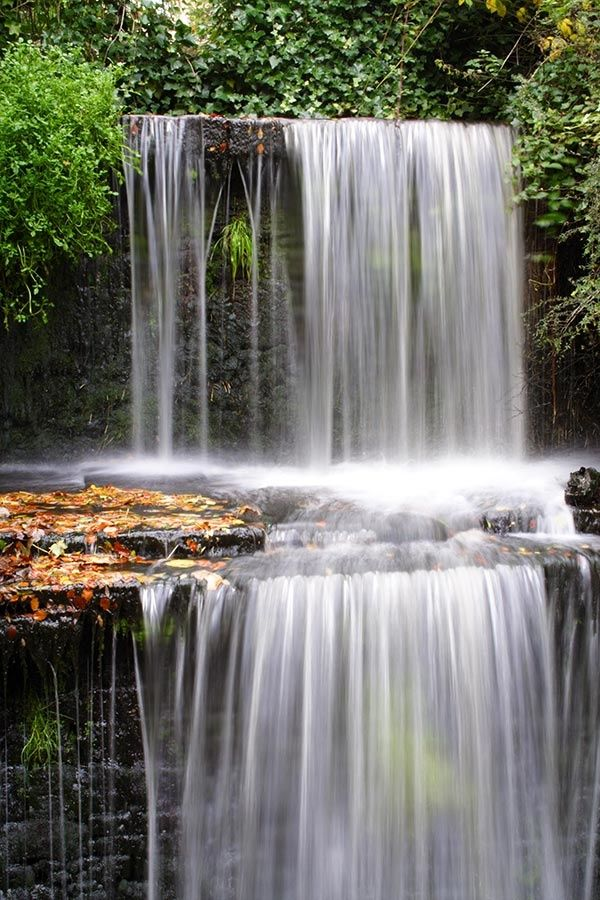 Waterfall Skipton Castle, North Yorkshire, England. HC