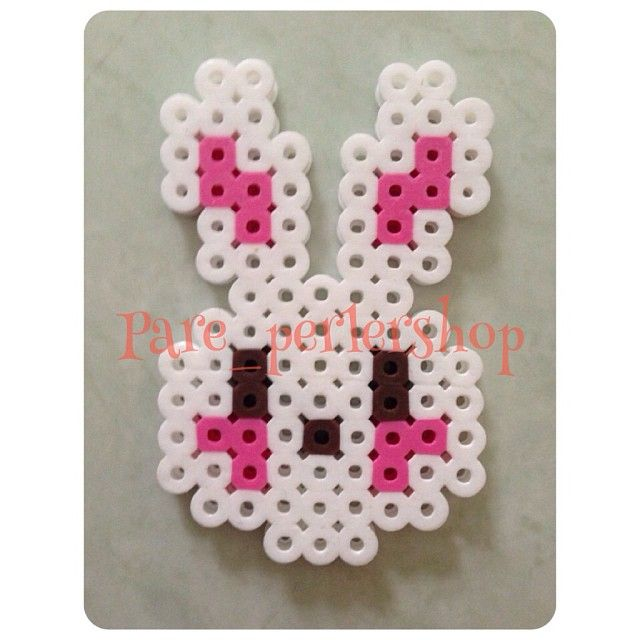 Bunny perler beads by Pare_perlershop
