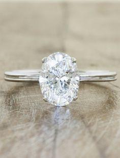 Simple elegant oval diamond with plain band | Wedding | Pinterest ...